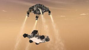 Il sistema a gru scelto dalla Nasa per depositare su Marte sia Curiosity sia il rover 2020.